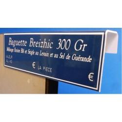 """Option de 2 pliages en crochet pour étiquettes GRAVETIQ """"La Classique"""""""