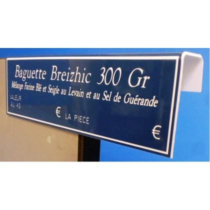 """Étiquettes GRAVETIQ """"La Classique"""" - 2 pliages en crochet"""
