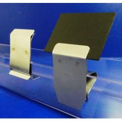 25 Supports étiquettes - CLIPINOX PLATEAU - (2 modèles au choix) :