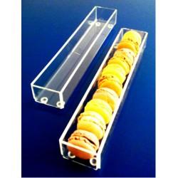5 Présentoirs plexi à macarons - grand modèle
