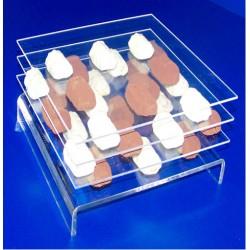 25 Base plexis à chocolats pliées