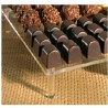 10 Bases plexi à chocolats avec 4 pieds collés- 151 692P4P à 151692M4P