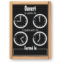 Pancarte Horaires - Gamme ARDOISE AVEC FILETS