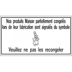 "Pancarte symbole ""Pingouin"" - 123 128PG"