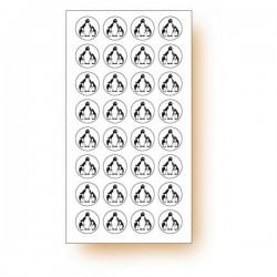 """120 pastilles adhésives symbole """"Pingouin"""""""