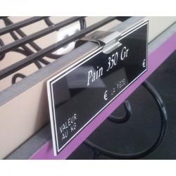 25 Supports étiquettes pour tablettes verticales - CLIPINOX VERTICAL - 140 069V à 072V