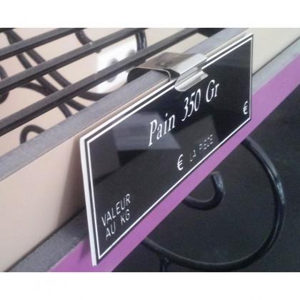 Supports étiquettes pour tablettes verticales - CLIPINOX VERTICAL