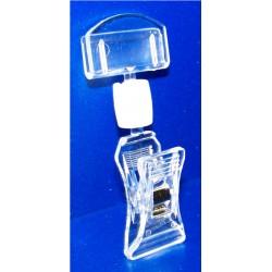 25 Pinces PVC cristal multi-directionnelles - Petit modèle