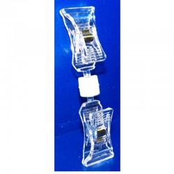 25 Pinces double PVC cristal multi-directionnelles - Petit / petit modèle