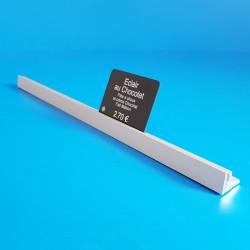 Réglette aluminium à 1 rainure - ARGENT - Prix du Mètre: