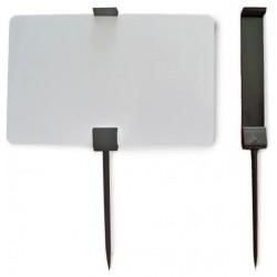 25 Piques prix PVC CR80 - Noir ou blanc