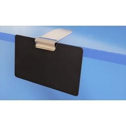 25 CLIPINOX HORIZONTAL - Supports étiquettes pour tablettes horizontales (4 modèles au choix):
